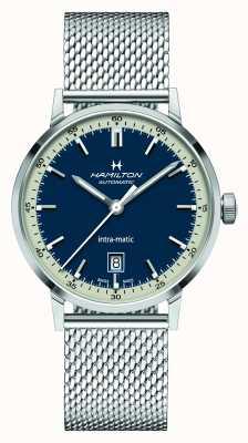 Hamilton American Classic   Intra-matic   Steel Mesh Bracelet   Blue Dial H38425140