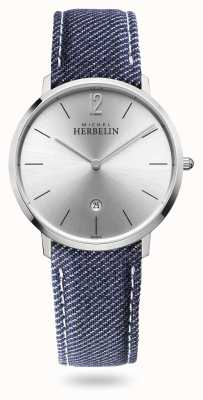 Michel Herbelin City | Denim Strap | Silver Dial 19515/11JN