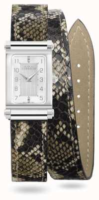 Michel Herbelin Antarès | Double Wrap Snake Print Leather Interchangeable Strap Only BRAC.17048.91/A