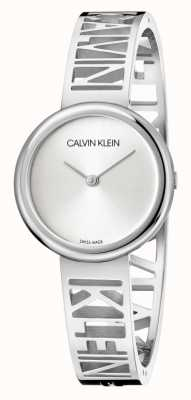 Calvin Klein MANIA | Stainless Steel Bracelet | Silver Dial | Size M KBK2M116