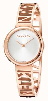 Calvin Klein MANIA | Rose Gold PVD Steel | Silver Dial | Size M KBK2M616