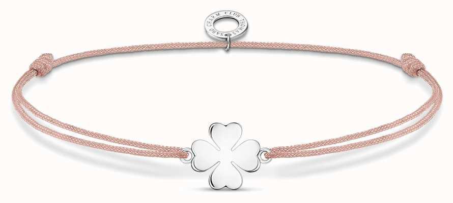 Thomas Sabo Little Secrets   Pink Nylon Cloverleaf Bracelet LS120-173-19-L20V