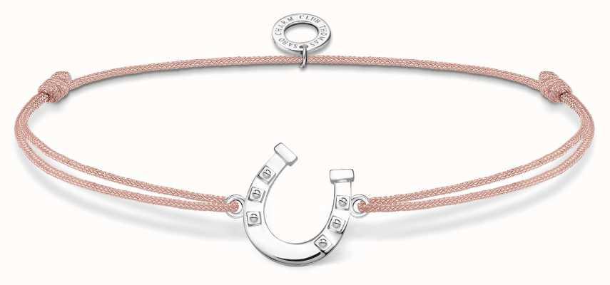 Thomas Sabo Little Secrets | Pink Nylon Horseshoe Bracelet LS124-173-19-L20V