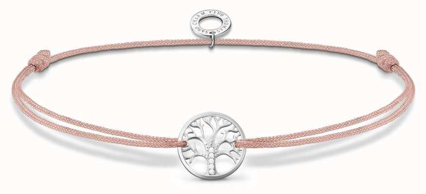 Thomas Sabo Little Secrets   Pink Nylon Tree Of Love Bracelet LS125-401-19-L20V