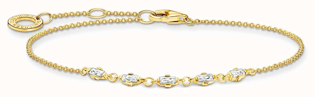 Thomas Sabo Gold Plated Vintage White Stones Bracelet A2024-414-14-L19V
