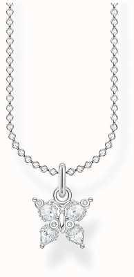 Thomas Sabo Sterling Silver Butterfly Charm Necklace KE2102-051-14-L45V