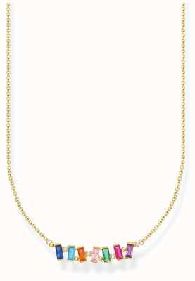 Thomas Sabo Gold Plated Colourful Stones Necklace KE2095-488-7-L45V