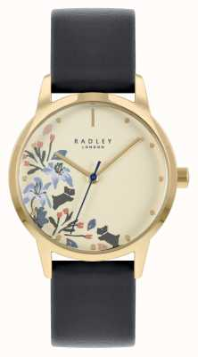 Radley Women's Black Leather Strap | Beige Dial RY21222A