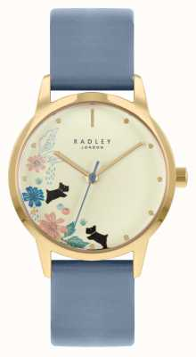 Radley women's Blue Leather Strap | Champagne Dial RY21230A