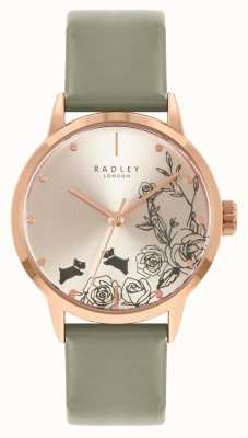 Radley Women's Grey Leather Strap | Silver Dial RY21242A