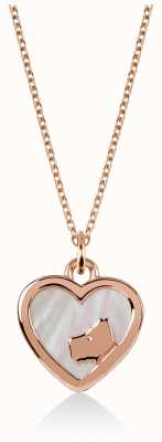 Radley Jewellery Love | Heart | Dog | Rose Gold Plated Silver | Pendant Necklace RYJ2060