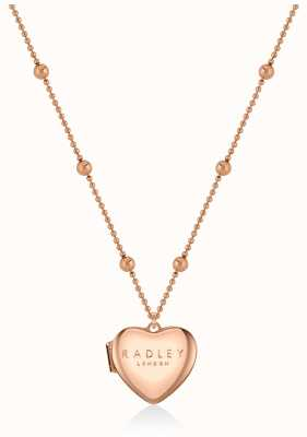 Radley Jewellery Love Letters   Rose Gold Plated Heart Locket Necklace RYJ2158S-CARD