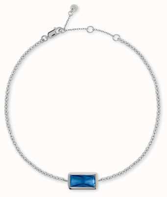 Radley Jewellery Radley Rocks | Sterling Silver Bracelet | Blue Baguette Cut Stone RYJ3097S-CARD