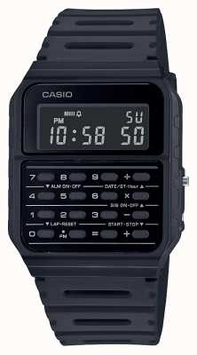 Casio Retro Calculator Watch | Black Resin Strap | Black Dial CA-53WF-1BEF