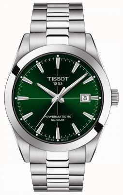 Tissot   Gentlemen Automatic   Powermatic 80   Stainless Steel Bracelet   Green Dial   T1274071109101