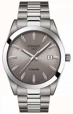 Tissot Gentlemen Titanium   Silver/Grey Titanium Bracelet   Grey Dial T1274104408100