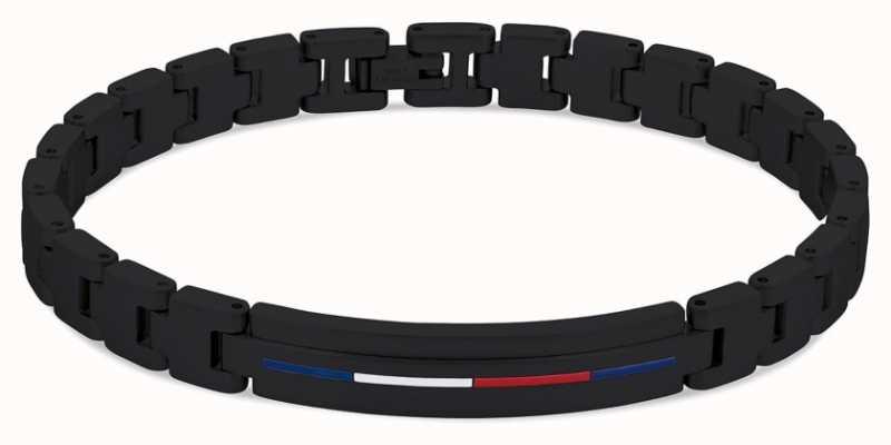 Tommy Hilfiger Men's Iconic ID Bracelet Black Stainless Steel 2790312