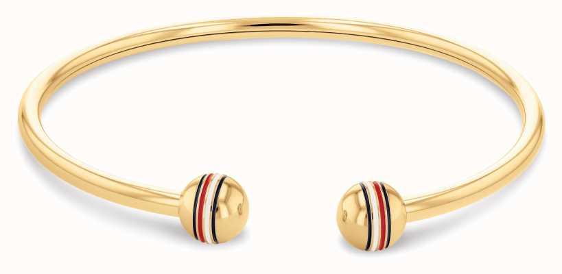 Tommy Hilfiger Orb | Gold PVD Steel Memory Bracelet 2780489