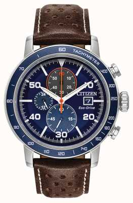 Citizen Brycen Eco-Drive Chronograph Leather Strap CA0648-09L