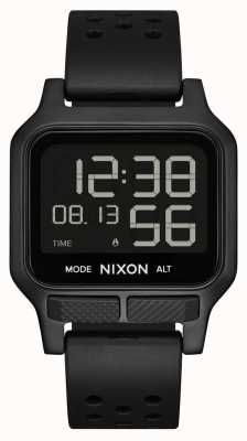 Nixon Heat   All-Black Rubber Strap Watch A1320-001