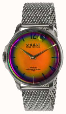U-Boat RAINBOW 44MM ORANGE SS ON METAL BRACELET 8469/MT