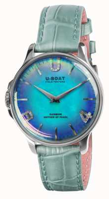 U-Boat RAINBOW 38MM BLUE SS Blue Leather Strap 8474