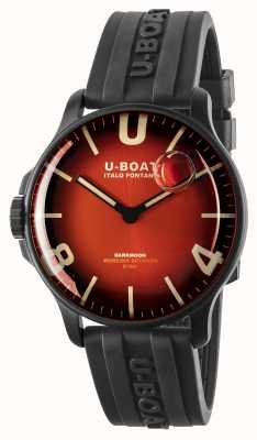 U-Boat Darkmoon 44mm Cardinal Red IPB/ Rubber Strap 8697