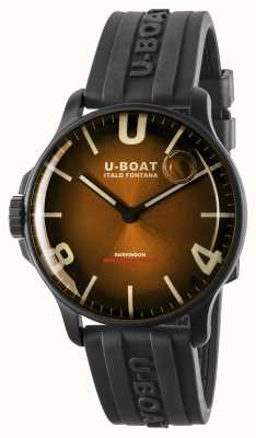 U-Boat Darkmoon 44mm Elegant Brown IPB/ Rubber Strap 8699
