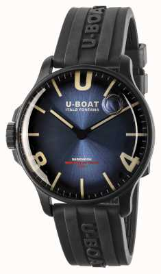 U-Boat Darkmoon 44mm Imperial Blue IPB/ Rubber Strap 8700