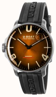U-Boat Darkmoon 44mm Elegant Brown SS/ Rubber Strap 8703