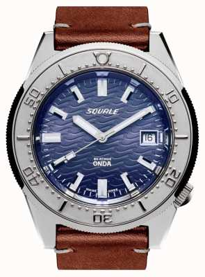 Squale 1521 ONDA LEATHER | Automatic | Blue Dial | Brown Leather Strap 1521ODG.PS-CINCUOBW