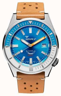 Squale MATIC LIGHT BLUE LEATHER | Automatic | Blue Dial | Brown Leather Strap MATICXSE.PTC-CINU1565CM