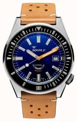 Squale DARK BLUE | Automatic | Blue Dial | Brown Leather Strap MATICXSB.PTC-CINU1565CM