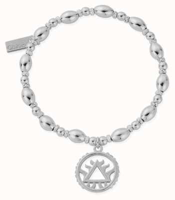 ChloBo Oval Bead Fire Bracelet | Sterling Silver SBOB3119