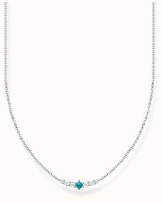 Thomas Sabo Silver Turquoise Zirconia Necklace KE2093-405-17-L42V