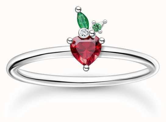Thomas Sabo Silver Strawberry Ring   Size 56 (UK O 1/2) TR2350-699-7-56