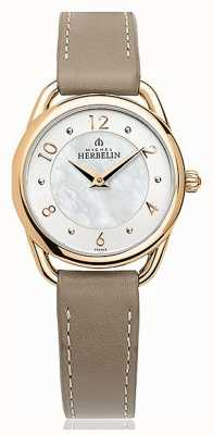 Michel Herbelin Equinoxe | Mother Of Pearl Dial | Taupe Leather Strap 17497/PR29GR