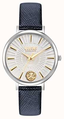 Versus Versace Versus Womens Mar Vista Leather Strap Watch VSP1F0121