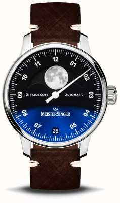 MeisterSinger Stratoscope 43mm Leather Strap ST982