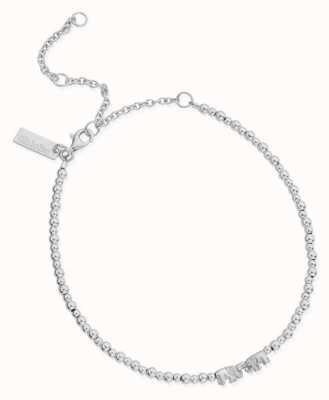 ChloBo Mini Cute Lucky Elephants Anklet | Sterling Silver SANMC4038