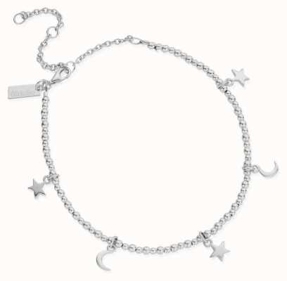 ChloBo Mini Cute Moon & Stars Anklet | Sterling Silver SANMC8061104