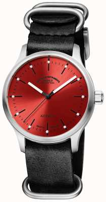 Muhle Glashutte Panova Red Black Leather Strap M1-40-78-LB