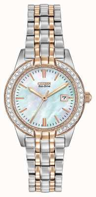 Citizen Eco-Drive Womens Silhouette Crystal EW1686-59D