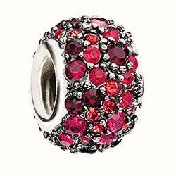 Chamilia Jewelled Kaleidoscope Red & Black Swarovski Charm JC-6D