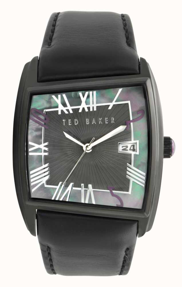4de6743a1253e0 Ted Baker Mens Black Mother Of Pearl Dial Watch TE1061 - First Class ...