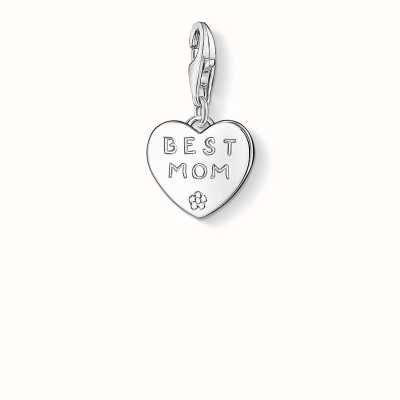Thomas Sabo Best Mom Charm 925 Sterling Silver 0821-001-12