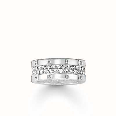 Thomas Sabo Ring White 925 Sterling Silver/ Zirconia TR1939-051-14-54