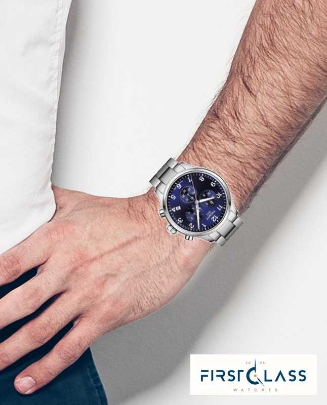 Tissot Mens Chrono Xl Classic Blue Dial Stainless Steel